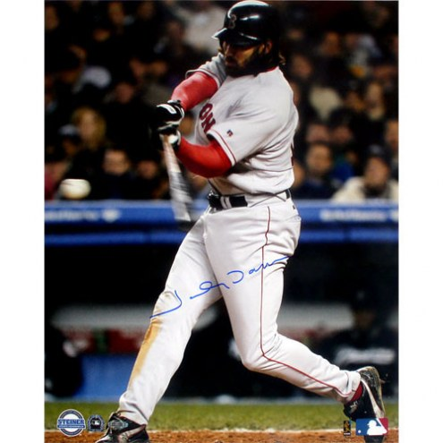 """Boston Red Sox Johnny Damon 2004 ALCS Game 7 2nd HR Signed 16"""" x 20"""" Photo"""
