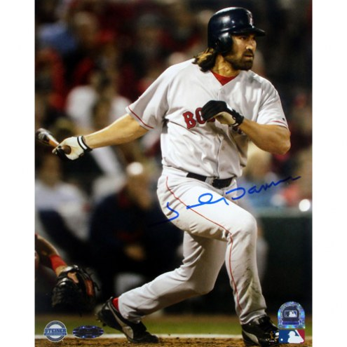 "Boston Red Sox Johnny Damon 2004 WS Game 4 HR Signed 16"" x 20"" Photo"