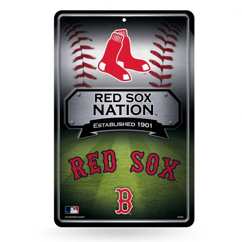 Boston Red Sox Large Embossed Metal Wall Sign