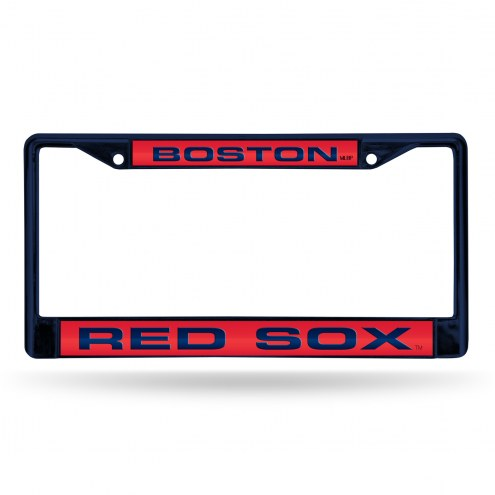 Boston Red Sox Laser Colored Chrome License Plate Frame