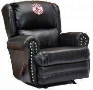 Boston Red Sox Leather Coach Recliner