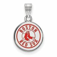 Boston Red Sox Sterling Silver Small Enameled Pendant
