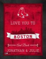 Boston Red Sox Love You to and Back Framed Print