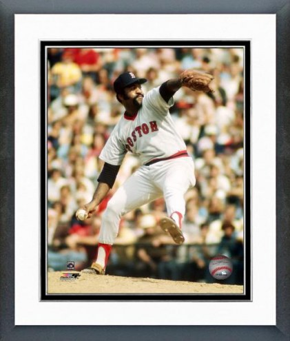 Boston Red Sox Luis Tiant Pitching Framed Photo