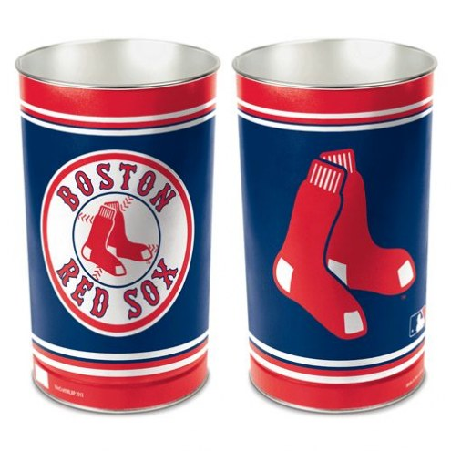 Boston Red Sox Metal Wastebasket