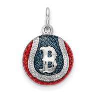 Boston Red Sox Sterling Silver Baseball Pendant
