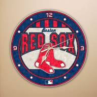 Boston Red Sox MLB Stained Glass Wall Clock