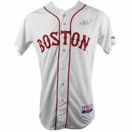 7a04e32fe40 Boston Red Sox Mookie Betts Signed Majestic Authentic White Jersey