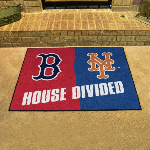 Boston Red Sox/New York Mets House Divided Mat