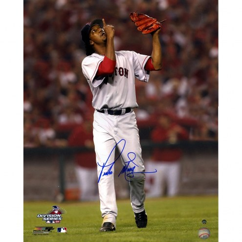 Boston Red Sox Pedro Martinez Signed 16 x 20 Pointing to the Sky
