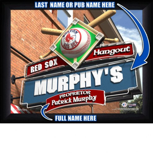 Boston Red Sox 11 x 14 Personalized Framed Sports Pub Print
