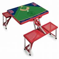 Boston Red Sox Red Folding Picnic Table