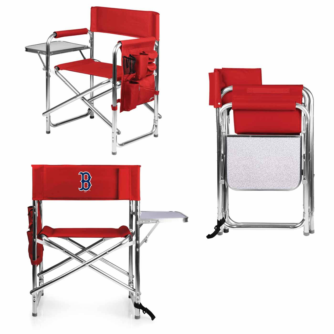 Swell Boston Red Sox Red Sports Folding Chair Dailytribune Chair Design For Home Dailytribuneorg