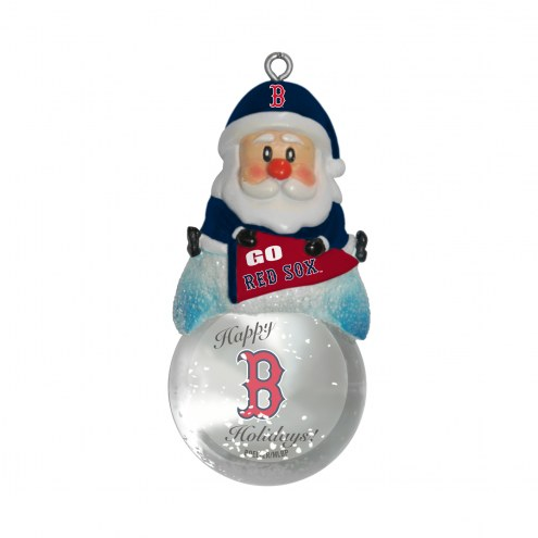 Boston Red Sox Santa Snow Globe Ornament