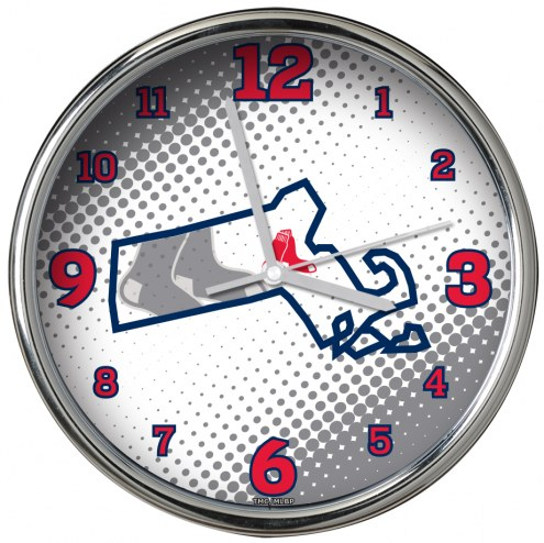 Boston Red Sox State of Mind Chrome Clock