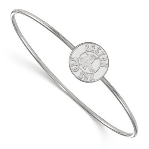 Boston Red Sox Sterling Silver Bangle Slip on Bracelet