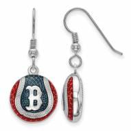 Boston Red Sox Sterling Silver Baseball Earrings