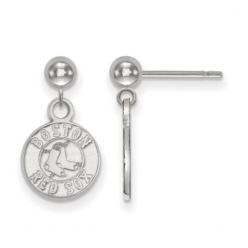 Boston Red Sox Sterling Silver Dangle Ball Earrings