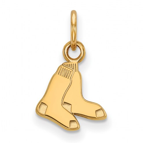 Boston Red Sox Sterling Silver Gold Plated Extra Small Pendant