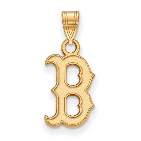 Boston Red Sox Sterling Silver Gold Plated Small Pendant