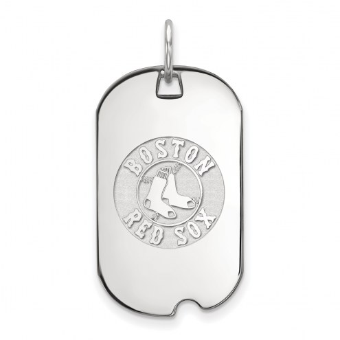 Boston Red Sox Sterling Silver Small Dog Tag