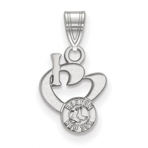 Boston Red Sox Sterling Silver Small I Love Logo Pendant