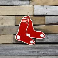 "Boston Red Sox Stockings 12"" Steel Logo Sign"