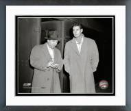 Boston Red Sox Ted Williams 1948 With Reporter Framed Photo