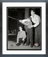 Boston Red Sox Ted Williams 1950 With Children Framed Photo