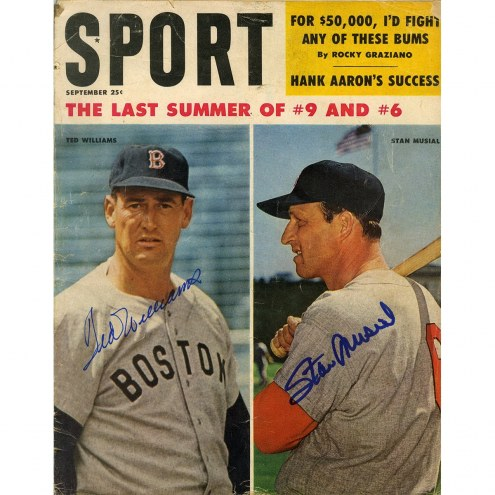 Boston Red Sox Ted Williams and Stan Musial Dual signed 1957 Sports Illustrated Magazine