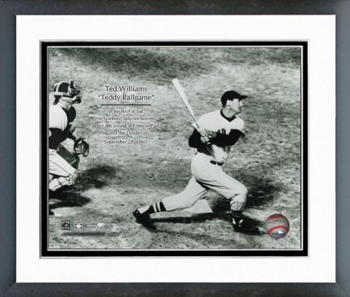 Boston Red Sox Ted Williams Final at Bat with Overlay Framed Photo