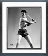 Boston Red Sox Ted Williams Posed Swinging Framed Photo