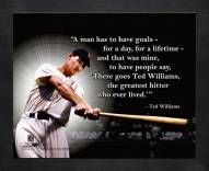 Boston Red Sox Ted Williams Framed Pro Quote