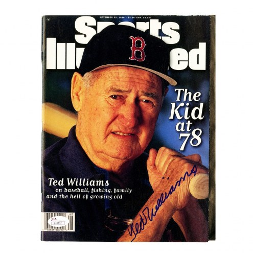 Boston Red Sox Ted Williams Signed 11/25/96 Sports Illustrated Magazine