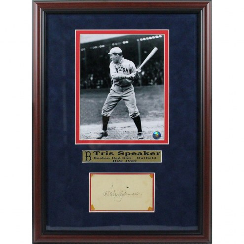 Boston Red Sox Tris Speaker Signed Framed Chit Collage