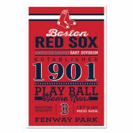 Boston Red Sox Established Wood Sign