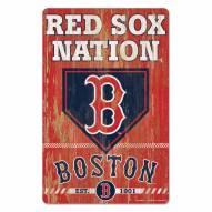 Boston Red Sox Slogan Wood Sign