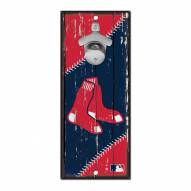 Boston Red Sox Wood Bottle Opener