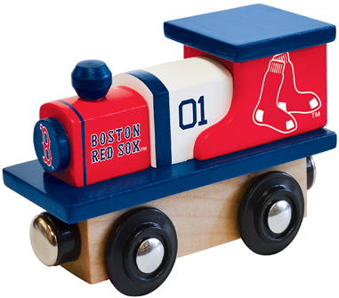 Boston Red Sox Wooden Toy Train