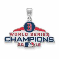 Boston Red Sox Sterling Silver Large Pendant