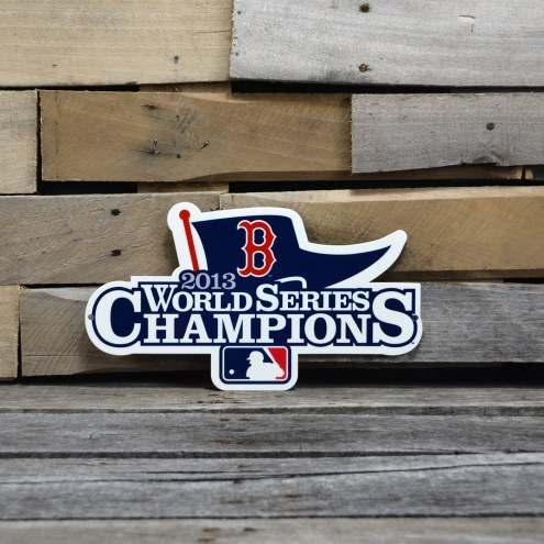 """Boston Red Sox WS 2013 12"""" Steel Logo Sign"""