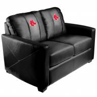 Boston Red Sox XZipit Silver Loveseat with Primary Logo