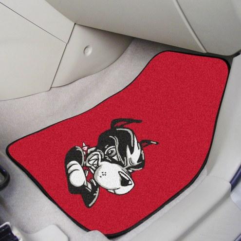 Boston Terriers 2-Piece Carpet Car Mats