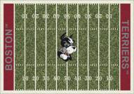 Boston Terriers College Home Field Area Rug