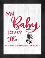 Boston Terriers My Baby Loves Framed Print