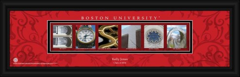 Boston Terriers Personalized Campus Letter Art
