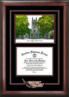 Boston Terriers Spirit Diploma Frame with Campus Image