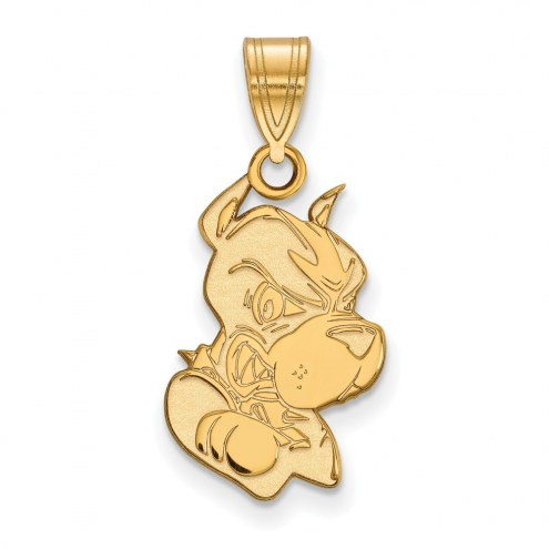 Boston Terriers Sterling Silver Gold Plated Large Pendant