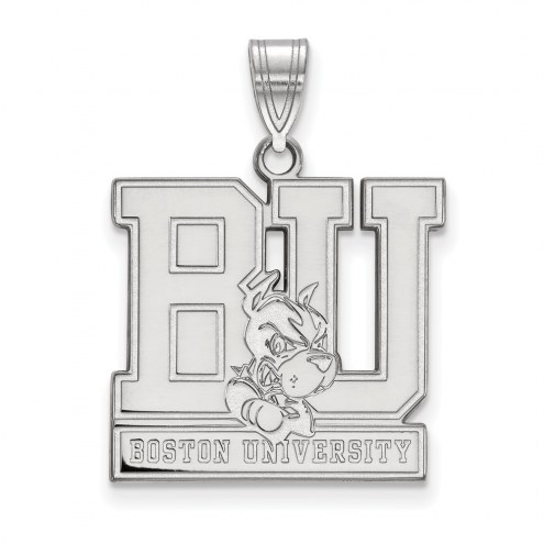 Boston Terriers Sterling Silver Large Pendant