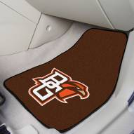 "Bowling Green State Falcons ""BG"" 2-Piece Carpet Car Mats"